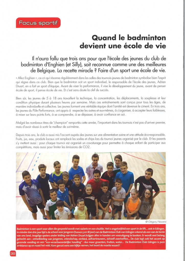 Article journal d'Enghien juin 2016